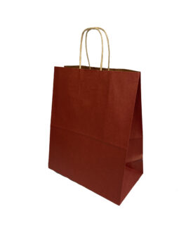 """Пакет крафт """"бордовый"""" 220*120*270 (ш.д.в.) с кручеными ручками"""