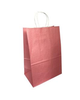 """Пакет крафт """"розовый"""" 220*130*320 (ш.д.в.) с кручеными ручками"""