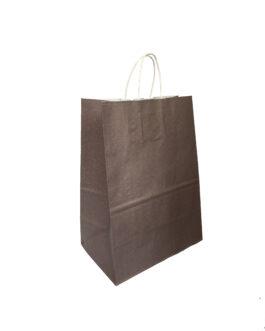 """Пакет крафт """"шоколад"""" 230*140*320 (ш.д.в.) с кручеными ручками"""